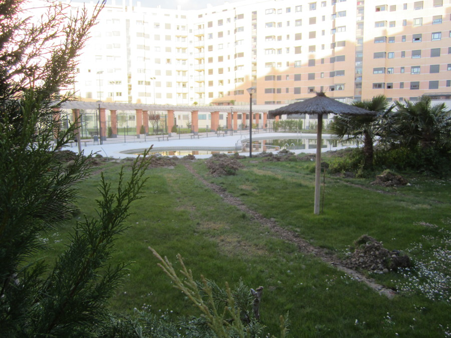 Obra de jardineria