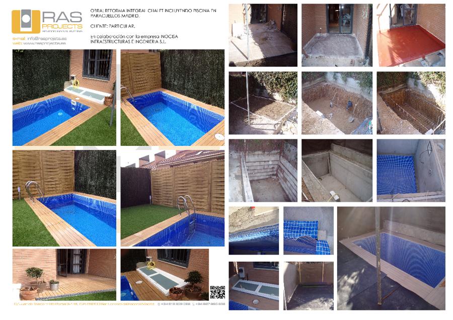 Reforma integral chalet con piscina en paracuellos madrid for Precio reforma integral chalet