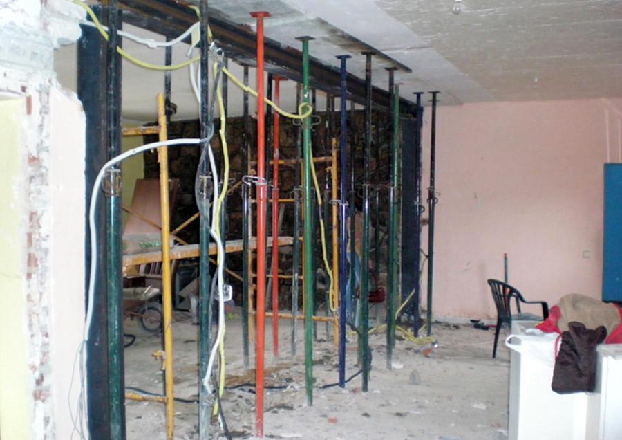 Obras de reforma en interior de vivienda unifamiliar