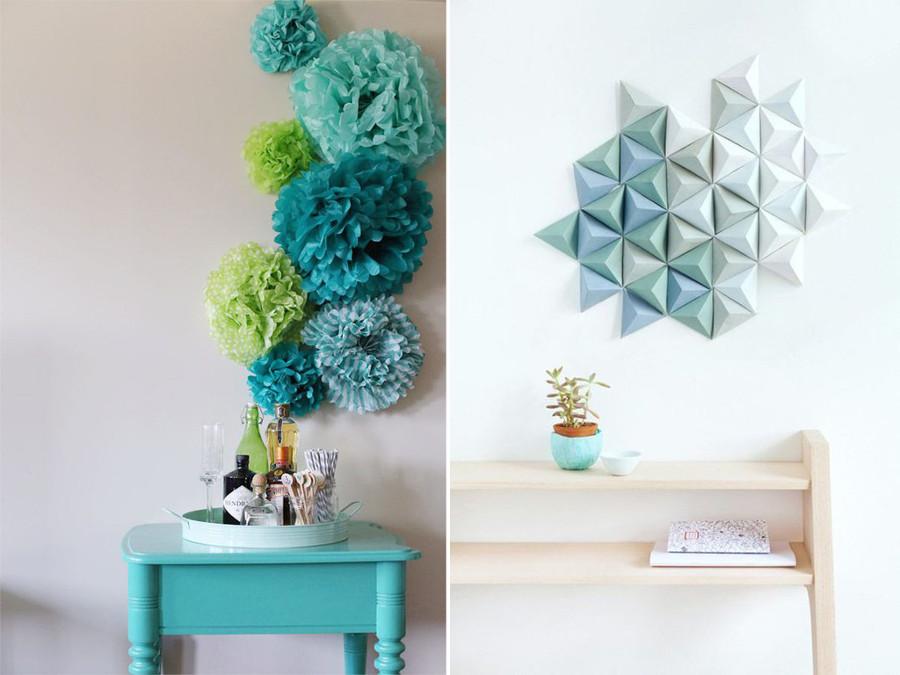 Descubre el arte del origami y todas sus posibilidades - Paredes en 3d decoracion ...