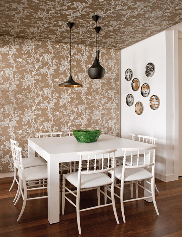 Foto comedor con papel pintado 1092103 habitissimo for Comedor papel pintado