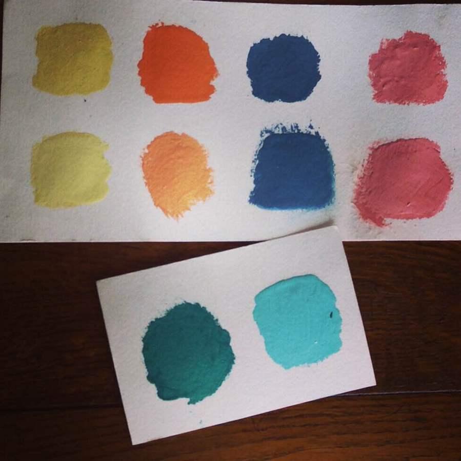 Paleta de colores elegidos