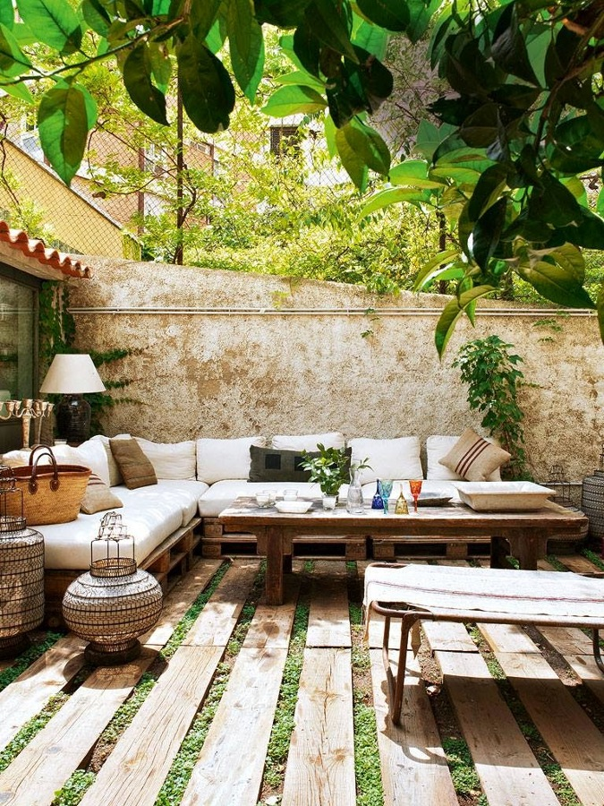 Eres fan de los palets mira todo lo que puedes hacer for Chill out jardin