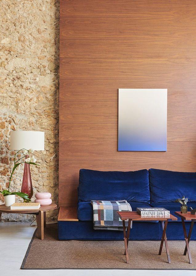 Panel de madera en la pared