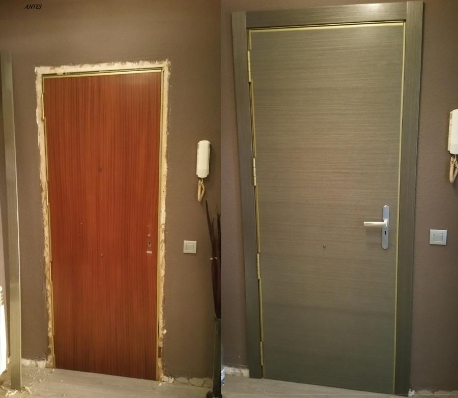 Puertas roble gris en barcelona ideas carpinteros for Puerta interior gris