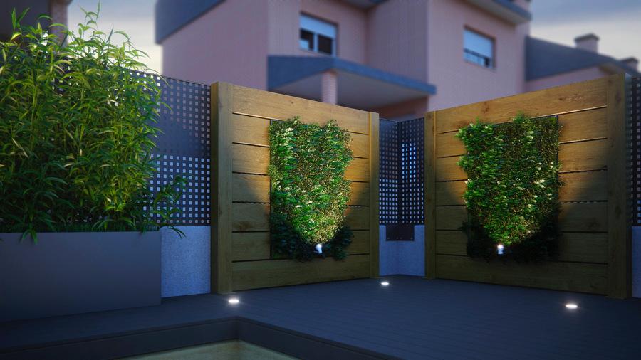 foto paneles con jardines verticales de key home