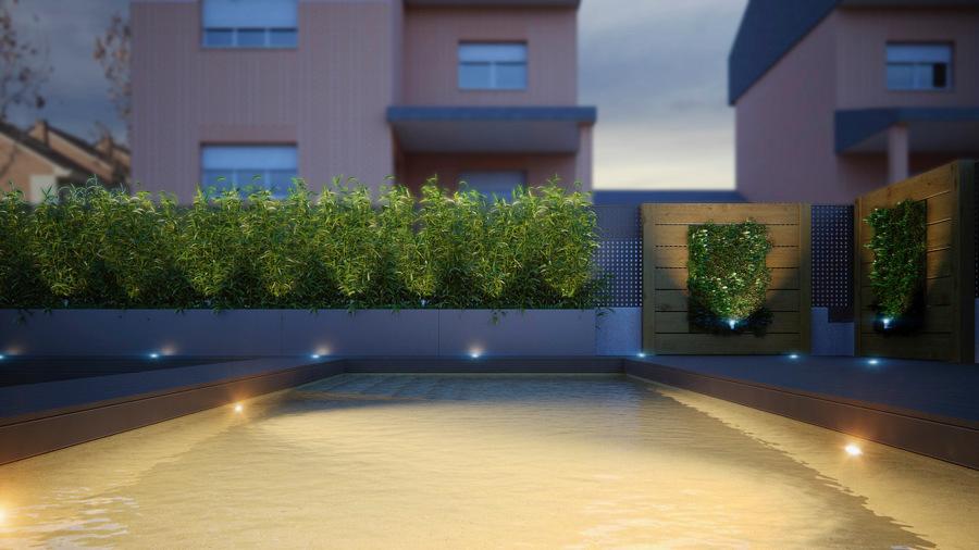 Paneles con jardines verticales