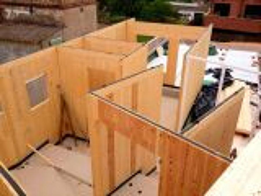 paneles de madera con aislante