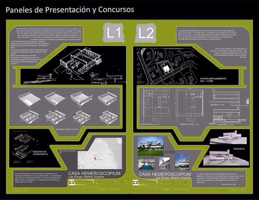 Paneles para presentaciones y concursos.