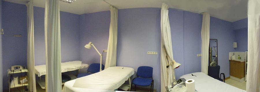 Panorámica de la sala de rehabilitación