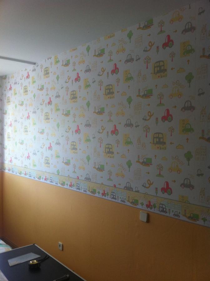 Colocacion de papel decorativo en habitacion infantil - Papel habitacion infantil ...