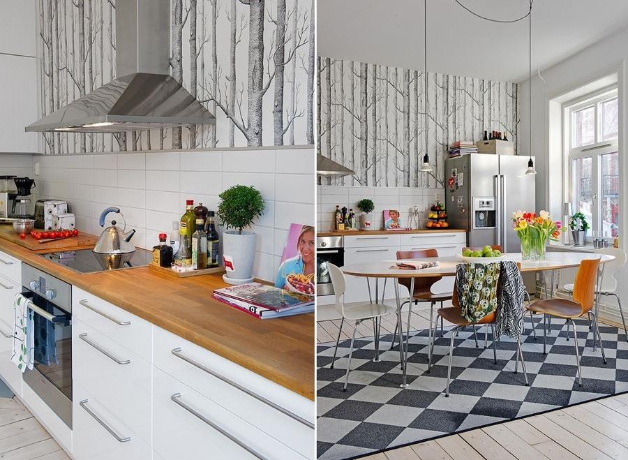 Miedo a pintar tu cocina atr vete con el papel pintado for Papel pintado para salon blanco