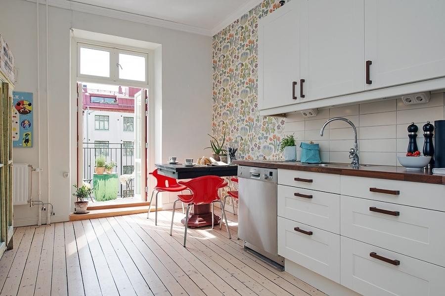 Miedo a pintar tu cocina atr vete con el papel pintado - Papel pared cocina ...
