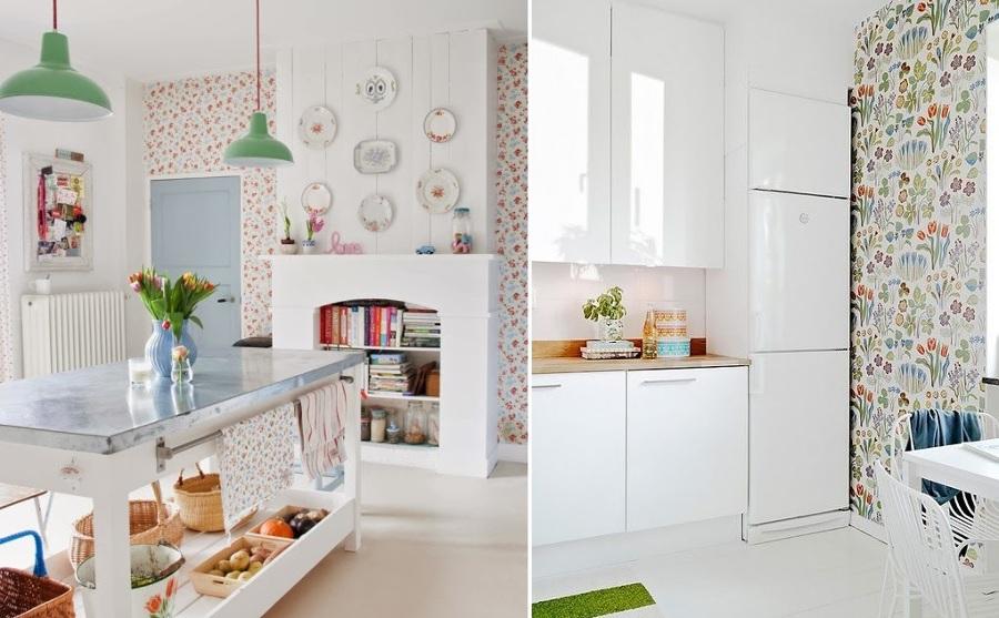 Miedo a pintar tu cocina atr vete con el papel pintado - Papel de pared para cocina ...