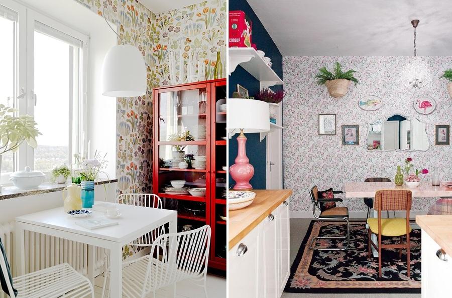 Miedo a pintar tu cocina atr vete con el papel pintado for Papel pintado vinilico cocina
