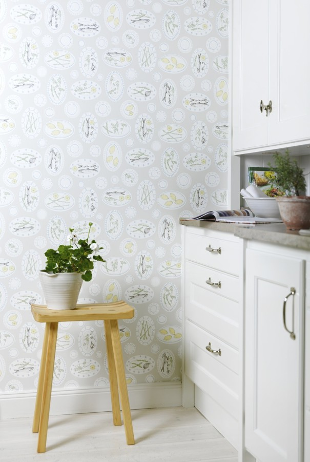 Foto papel pintado cocina de miriam mart 881620 for Papel pintado coruna