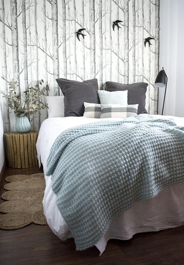 El antes y despu s de 5 dormitorios que enamoran ideas - Dormitorios con papel pintado ...