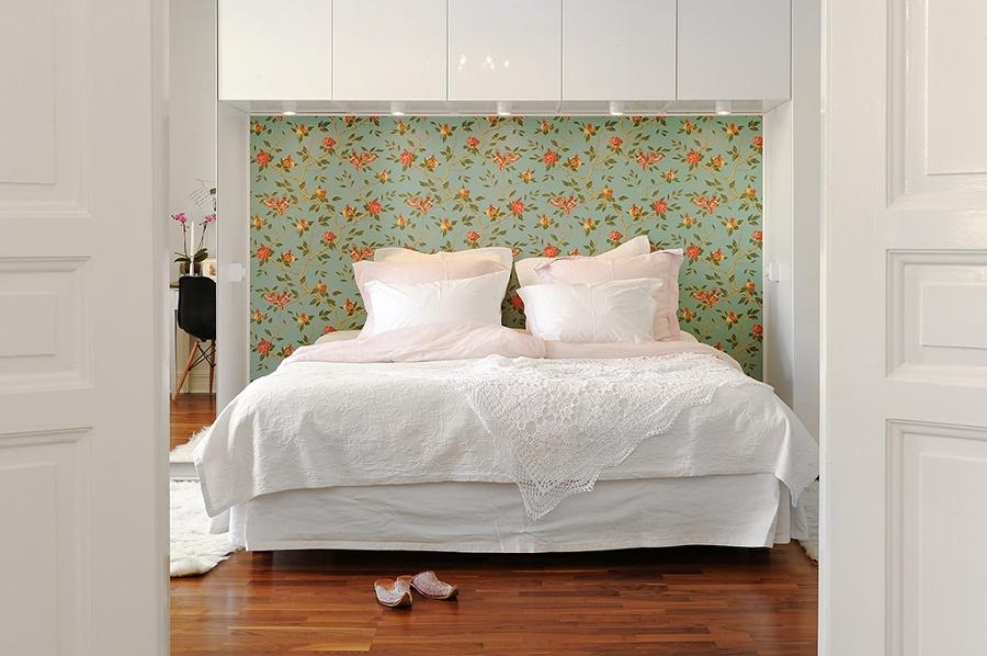 Foto papel pintado dormitorio de miriam mart 927705 for Papel pintado coruna