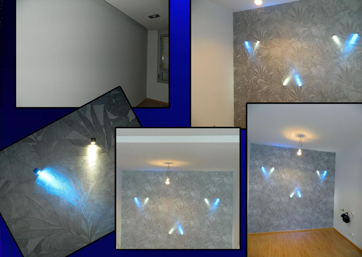 papel pintado e iluminacion