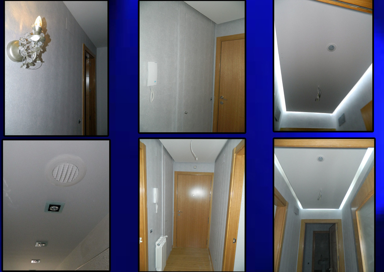 Foto papel pintado falso techo de pladur con sensor de - Iluminacion indirecta led ...