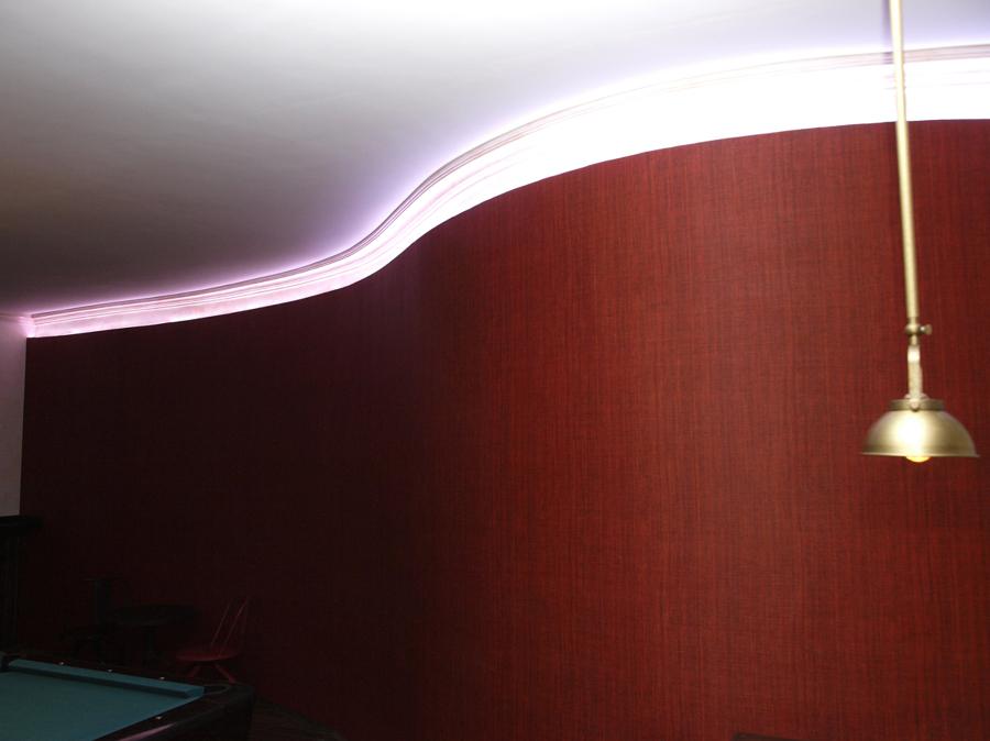 Pared Curva con sistema led RGB