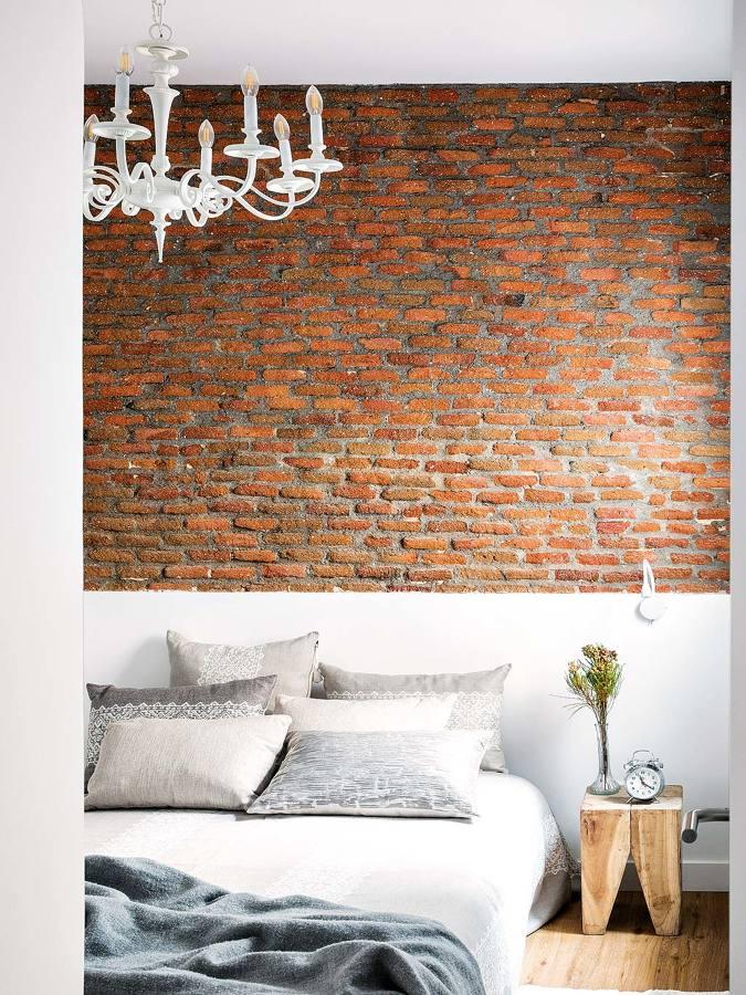 Foto pared de ladrillo de caravista o imitaci n y murete for Pladur o ladrillo