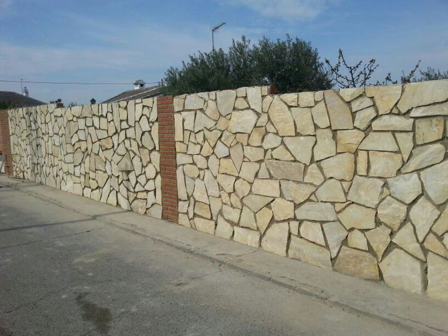Muro de piedra natural ideas construcci n muros - Piedra natural pared ...