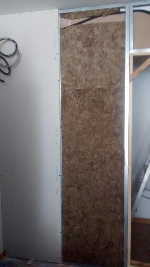 Pared de pladur con su lana de roca ideas reformas viviendas - Pladur para paredes ...