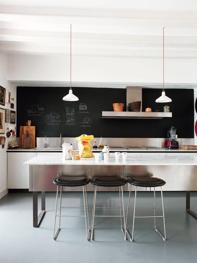 Foto pared pizarra cocina de decoratualma 891685 - Pizarras de cocina ...