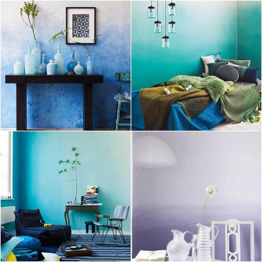 Foto paredes pintadas en degradado de elenatorrente d az - Imagenes de paredes pintadas ...