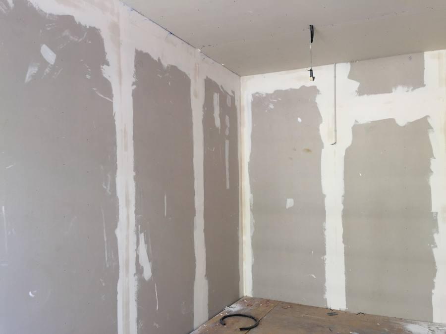 paredes de pladur en proceso
