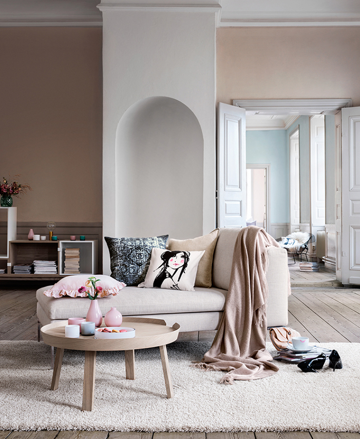 paredes en tonos claros