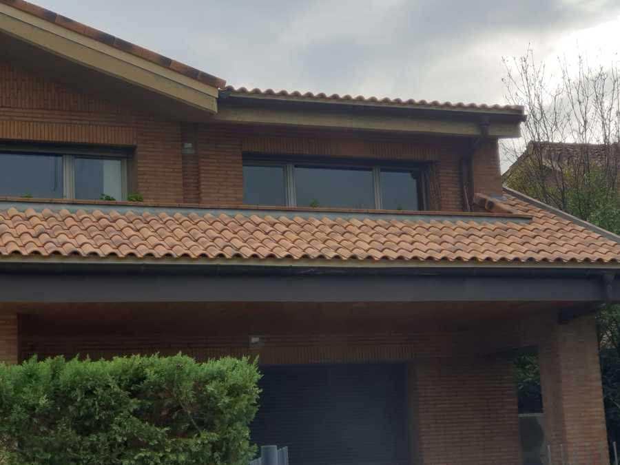 Parte de tejado rematatada