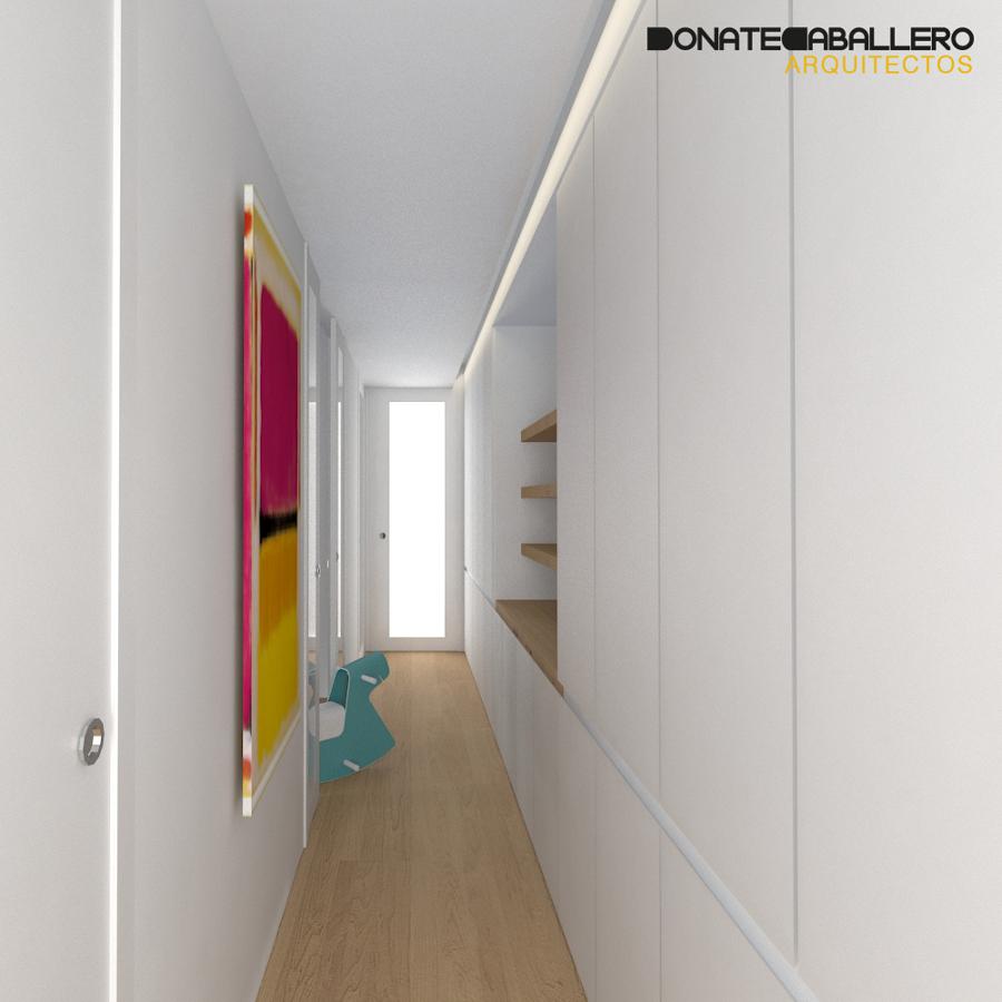 foto pasillo vivienda con armario de donatecaballero
