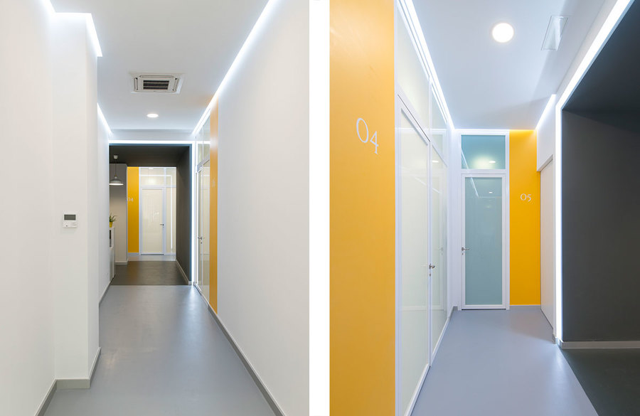 Pasillos de acceso a las diferentes salas