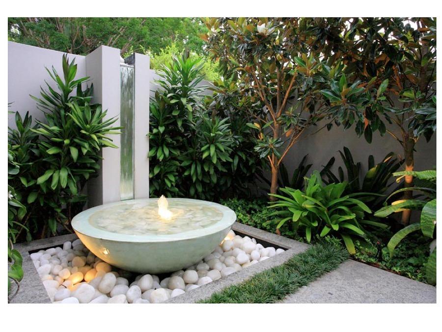 Refresca tu terraza con una fuente ideas paisajistas - Fuentes para terraza ...