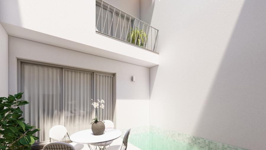 Patio principal de la vivienda