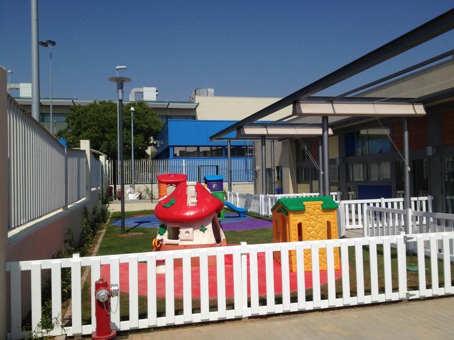 Patios y jardin de juego de las Aulas