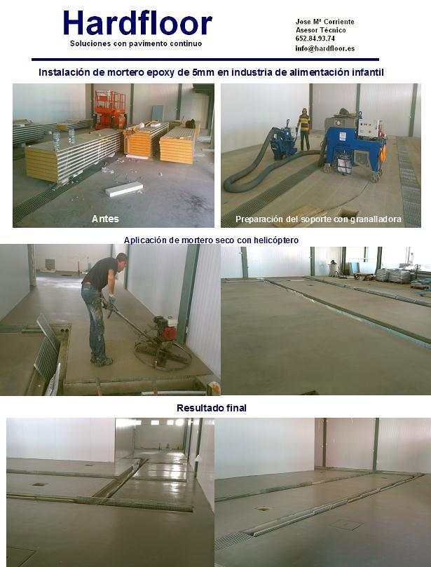pavimento continuo de resina epoxi alimentario