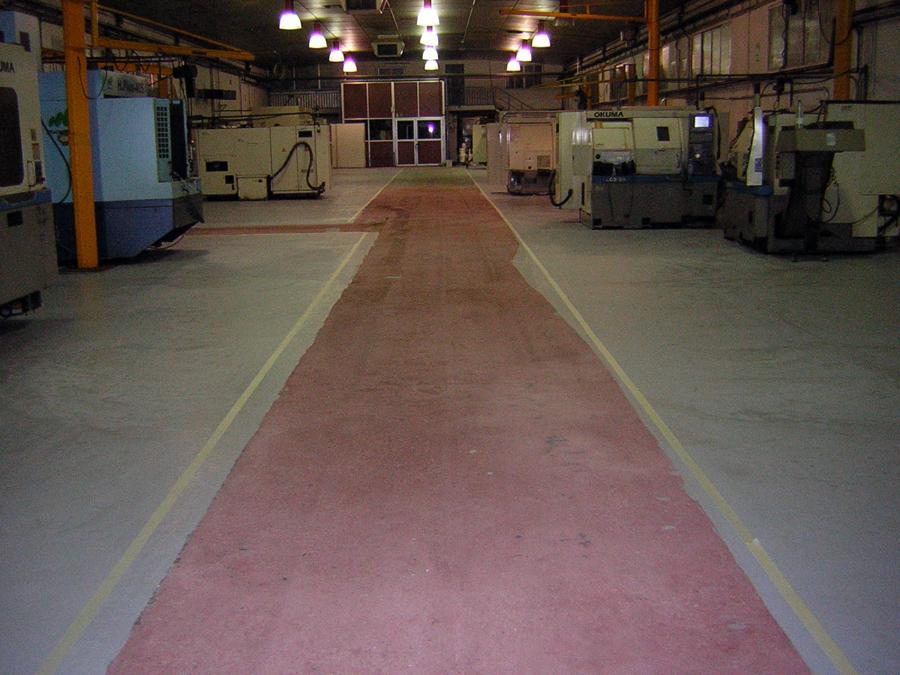 pavimento granallado y imprimado