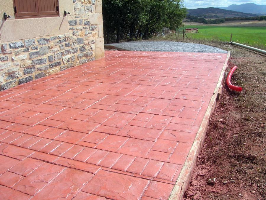 Foto pavimento impreso en gebara de pavimentos del norte - Pavimento impreso valencia ...