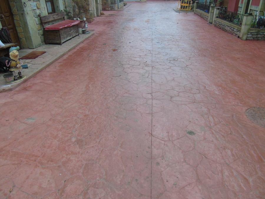 Foto pavimento impreso de pavimentos y pulidos gorbelan s - Pavimento impreso valencia ...