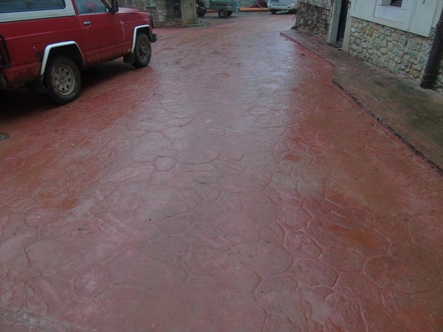 Foto pavimento impreso de pavimentos y pulidos gorbelan s for Pavimento impreso tarragona