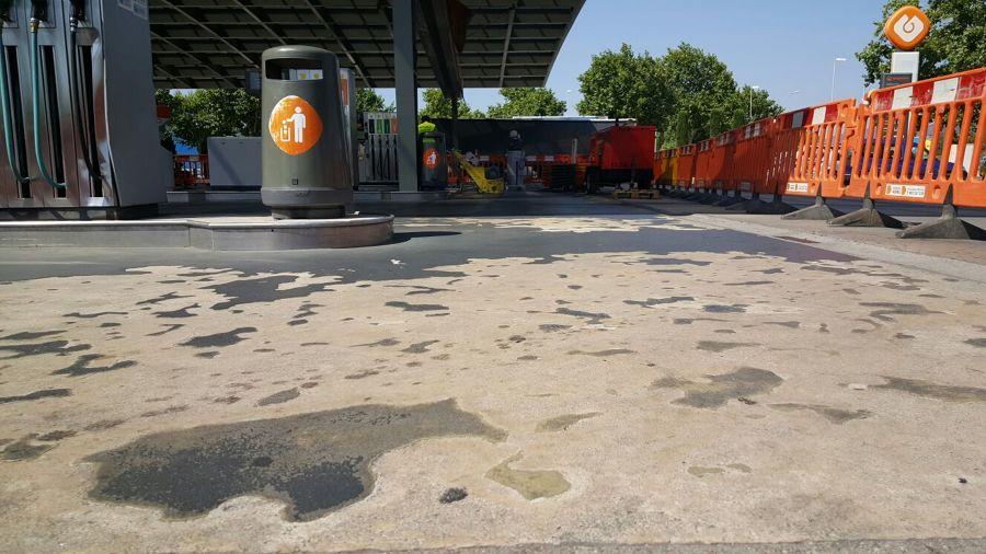 Pavimento para una gasolinera GALP