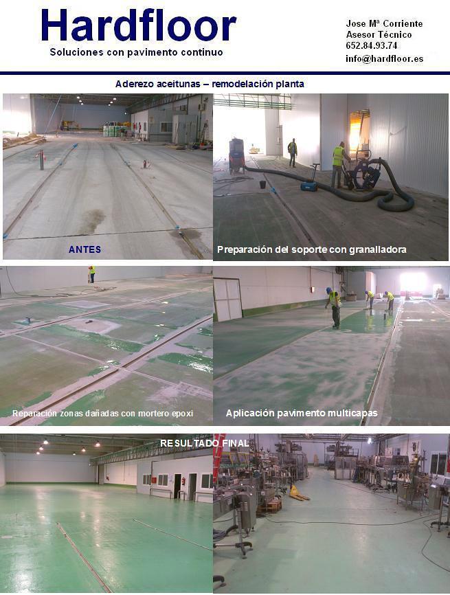 pavimento resina epoxi industria aceitunas
