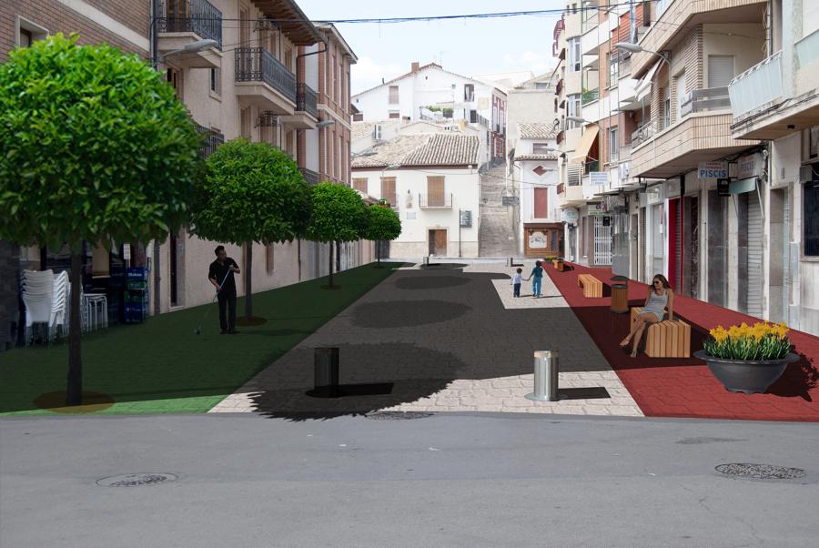 Peatonalización de calle
