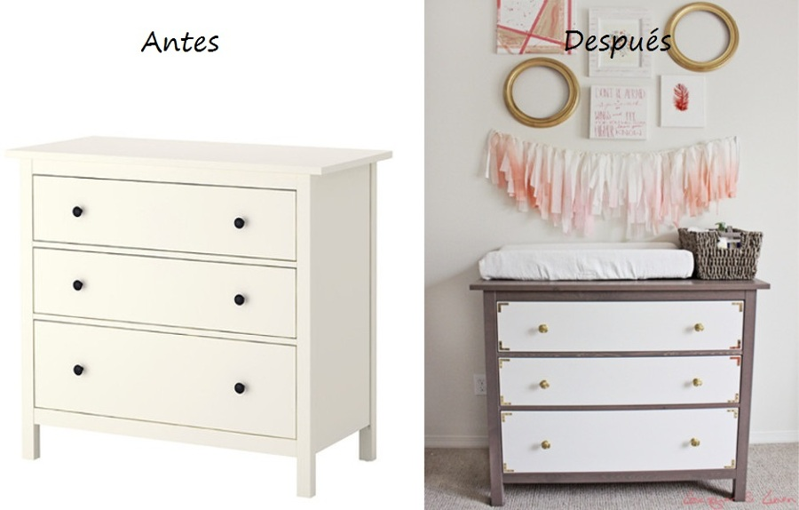 Trucos para modificar tus muebles de ikea ideas decoradores for Muebles hemnes ikea