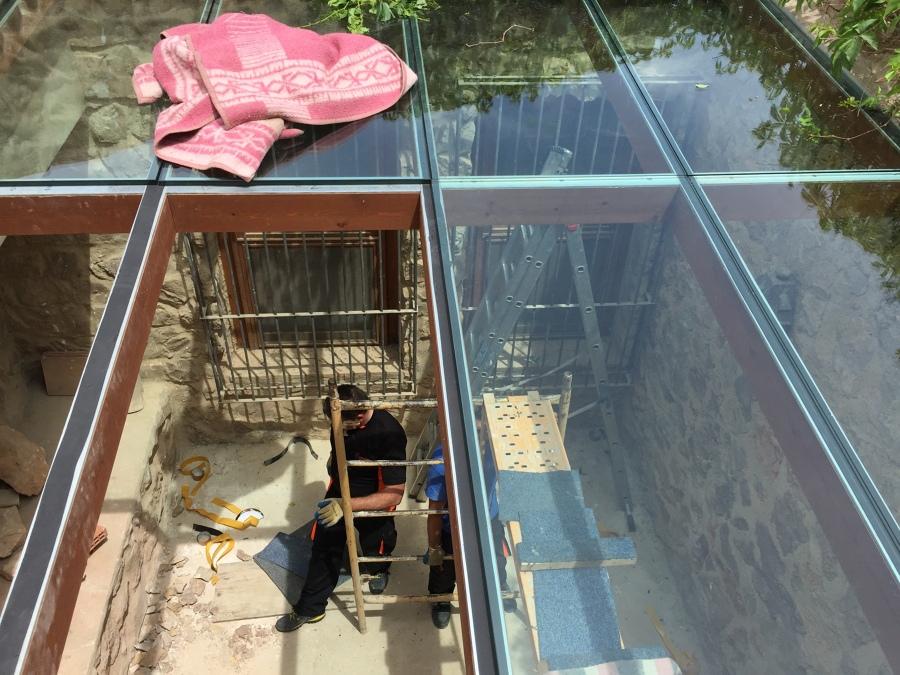 Foto p rgola madera vidrio laminado 10 10 de cristaleria vidrexpress s l 858870 habitissimo Pergolas de cristal