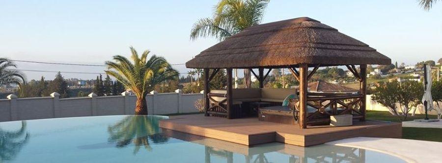 Foto p rgola para piscinas de junco africano p rgolas for Pergolas para piscinas