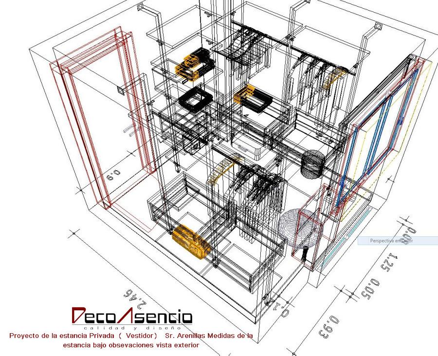 Perspectiva de las dimensiones de la estancia del cliente